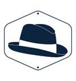 Vintage man s hat label vector image