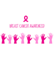 Pink ribbon Breast cancer awareness symbol vector image