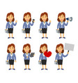 female manager cartoon vector image