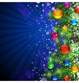 Christmas bright background vector image vector image