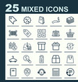 ecommerce icons set collection of rich box vector image