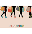 Vintage women silhouettes legs with high heels and vector image vector image