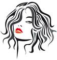 woman-long - hair- vector image