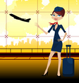 travel guide in airport vector image vector image