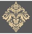 Damask Oriental Pattern vector image