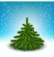 little fluffy christmas tree vector image vector image