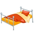 cartoon home furniture bed vector image vector image