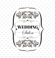 bridal salon signboard with ornamental elements on vector image