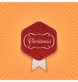 Christmas realistic red Label with Snowflakes vector image