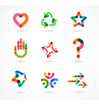 Collection of abstract colorful business icons vector image