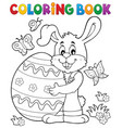 coloring book easter rabbit theme 8 vector image