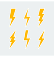 lightning bolt icons set vector image