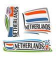 logo for netherlands vector image
