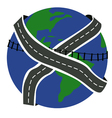 roads of the Earth vector image