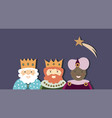 three kings and star vector image