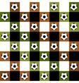 Football Ball Green Brown Chess Board vector image