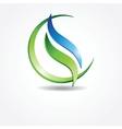 Green ecological banner vector image