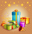 composition of gift box and different elements vector image