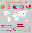 colorful infographic set vector image