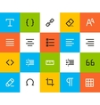 Formatting and editing icons Flat vector image vector image