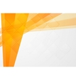 Abstract orange technical backdrop vector image