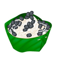 Sticky Rice and Black Beans in Coconut Milk vector image