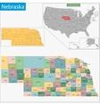 Nebraska map vector image