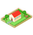 Isolated house vector image