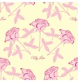 Seamless pattern with pink rose103 vector image vector image