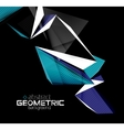 color geometric shapes on black background vector image vector image