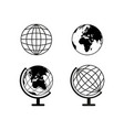 earth globes set icons vector image