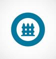 fence bold blue border circle icon vector image