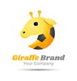 Giraffe Volume Logo Colorful 3d Design Corporate vector image