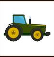 green tractor flat vector image
