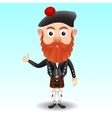 Scottish character in kilt vector image