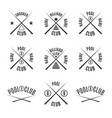 set emblems billiard club vector image