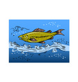 speckled trout swiming underwate vector image