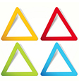 Triangular Labels in the form of an empty frame vector image vector image