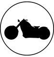 american style motorcycle vector image