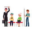 people young and old sitting and standing in vector image vector image
