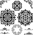 set Kazakh Asian ornaments and patterns vector image