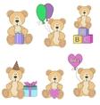Teddy Bear set vector image