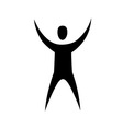 human with raised hands vector image