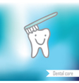 Teeth - freehand drawing vector image vector image