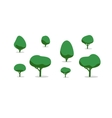 Set of different trees with shadows simple style vector image vector image