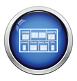 American football scoreboard icon vector image