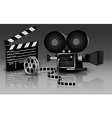 Camera with movie vector image