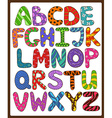 Children Alphabet With Cartoon Capital Letters vector image