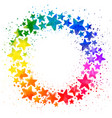 circle composition with hand drawn watercolor vector image