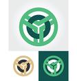 circled emblem vector image